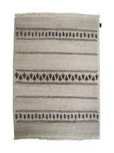 Sera Helsinki - Retki-villamatto 100 x 200 cm - BLACK/NATURAL WHITE (MUSTA/LUONNONVALKOINEN) | Stockmann