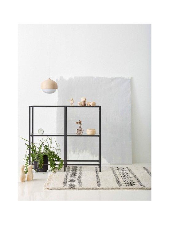Sera Helsinki - Retki-villamatto 100 x 200 cm - BLACK/NATURAL WHITE (MUSTA/LUONNONVALKOINEN) | Stockmann - photo 2
