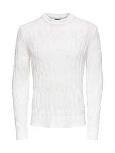 Only & Sons - Onswillet Life Cable Crew Neck -neule - CLOUD DANCER | Stockmann