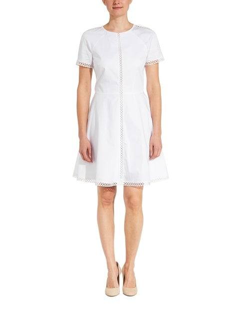 Lace Trim Cotton Dress -mekko