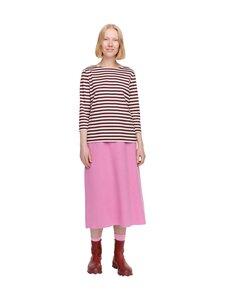 Marimekko - Ilma Tasaraita -paita - WINE RED, LIGHT BEIGE | Stockmann