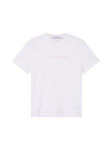 Calvin Klein Jeans - Shrunken institutional -t-paita - YAF BRIGHT WHITE   Stockmann
