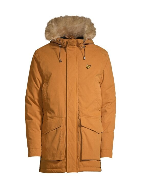 Lyle & Scott - Winter Weight Microfleece Lined Parka -takki - W119 CARAMEL | Stockmann - photo 1