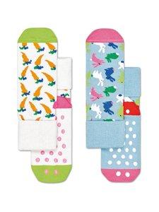 Happy Socks - Kids Bunny Anti-Slip -sukat 2-pack - 6000 6000-MULTI | Stockmann