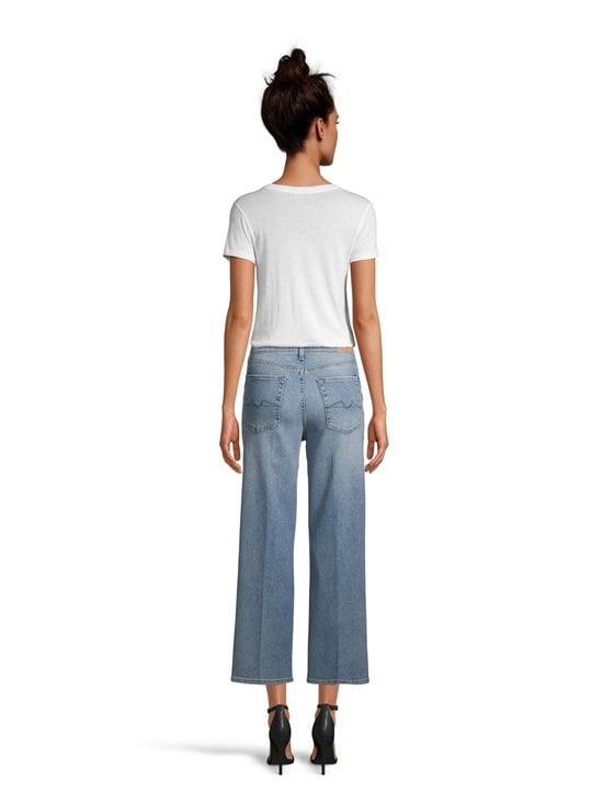 7 For All Mankind - Cropped Alexa Luxe Vintage On Time -farkut - MID BLUE | Stockmann - photo 3
