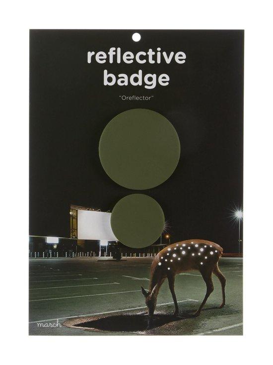 March Design - Oreflector- heijastava rintamerkki 2 kpl - KHAKI (VIHREÄ) | Stockmann - photo 1