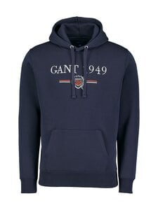GANT - D1. 1949 Crest Sweat Hoodie -huppari - 433 EVENING BLUE | Stockmann