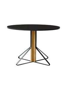 Artek - REB004 Kaari-pöytä, HPL - BLACK GLOSSY/NATURAL OAK (MUSTA/TAMMI) | Stockmann
