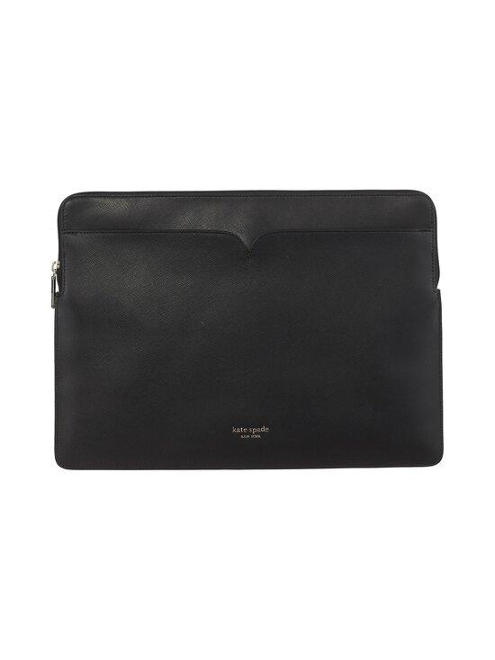 kate spade new york - Spencer Universal Laptop Sleeve -nahkainen suojatasku kannettavalle - 001 BLACK   Stockmann - photo 1