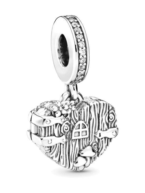 Pandora - Wooden Heart Door Openable Sterling Silver Dangle -koru - SILVER   Stockmann - photo 1
