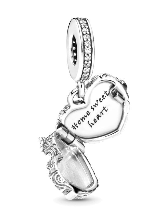 Pandora - Wooden Heart Door Openable Sterling Silver Dangle -koru - SILVER   Stockmann - photo 2