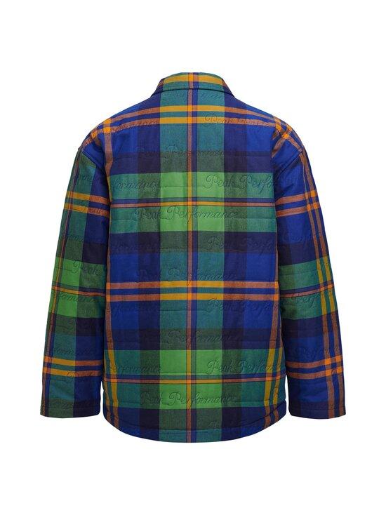 Peak Performance - Ben Gorham Flannel Overshirt Unisex -paita - 2BC ISLAND BLUE | Stockmann - photo 2