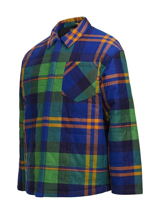Peak Performance - Ben Gorham Flannel Overshirt Unisex -paita - 2BC ISLAND BLUE | Stockmann - photo 3