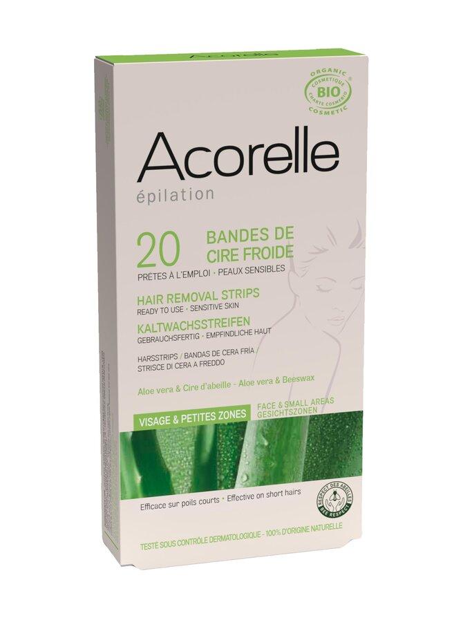 Acorelle- kylmävahaliuskat kasvoille 20 kpl