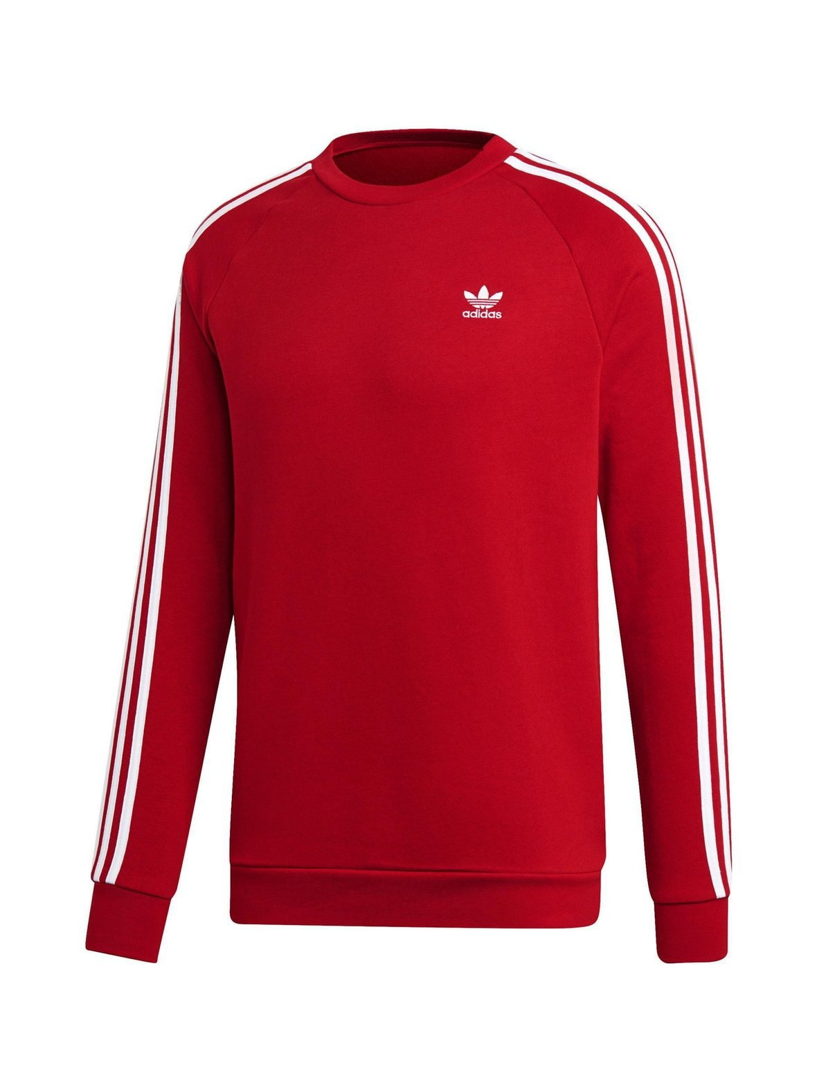 Powred (punainen) Adidas Originals 3-Stripes-collegepaita  54725f5d00