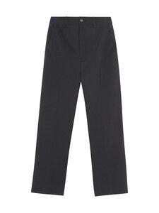 Ganni - Heavy Crepe Trousers -housut - BLACK | Stockmann