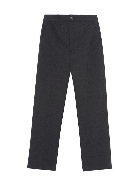 Ganni - Heavy Crepe Trousers -housut - BLACK | Stockmann - photo 1
