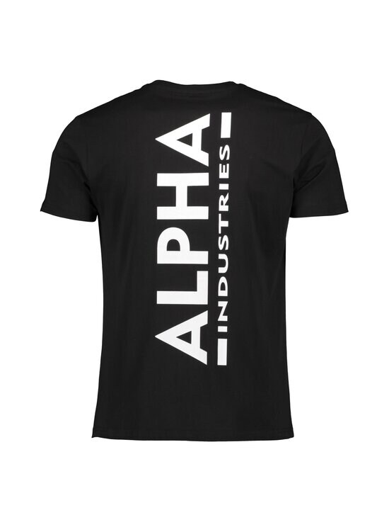 Alpha Industries - Backprint T -paita - 03 BLACK   Stockmann - photo 2