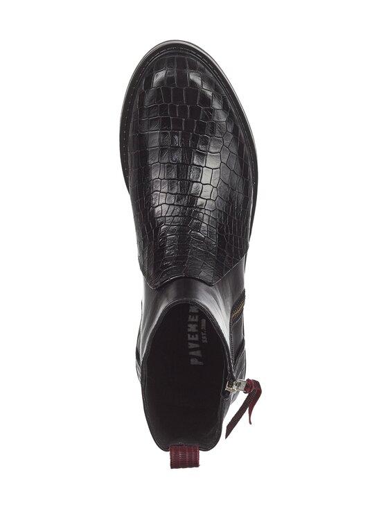 PAVEMENT - Heidi Croco -nahkanilkkurit - 491 BLACK CROCO BORDEAUX | Stockmann - photo 2