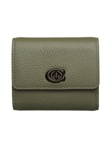 Coach - Signature Turnlock Small Wallet -nahkalompakko - V5/LIGHT FERN | Stockmann