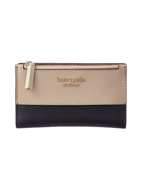 kate spade new york - Spencer Small Slim Bifold Wallet -nahkalompakko - WARM BEIGE/BLACK | Stockmann - photo 1