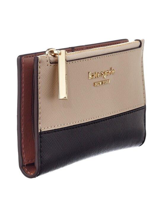 kate spade new york - Spencer Small Slim Bifold Wallet -nahkalompakko - WARM BEIGE/BLACK | Stockmann - photo 3