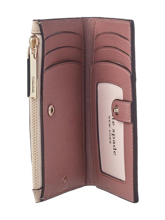 kate spade new york - Spencer Small Slim Bifold Wallet -nahkalompakko - WARM BEIGE/BLACK | Stockmann - photo 4