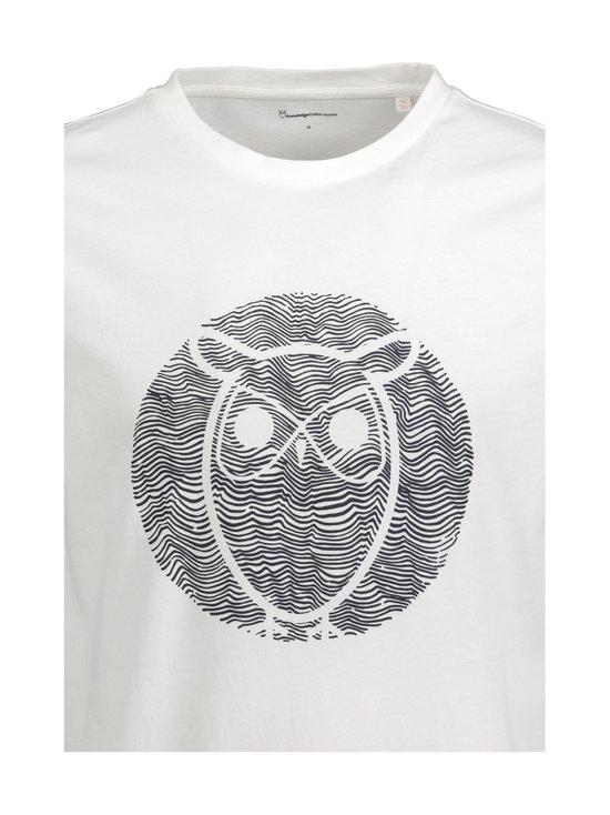 Knowledge Cotton Apparel - Alder Wave Owl -paita - 1010 BRIGHT WHITE | Stockmann - photo 2
