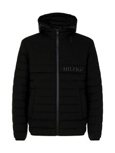 Tommy Hilfiger - Stretch Hooded Jacket -takki - BDS BLACK | Stockmann