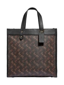 Coach - Field Tote With Horse And Carriage Print -laukku - B4SI1 B4/TRUFFLE BLACK | Stockmann