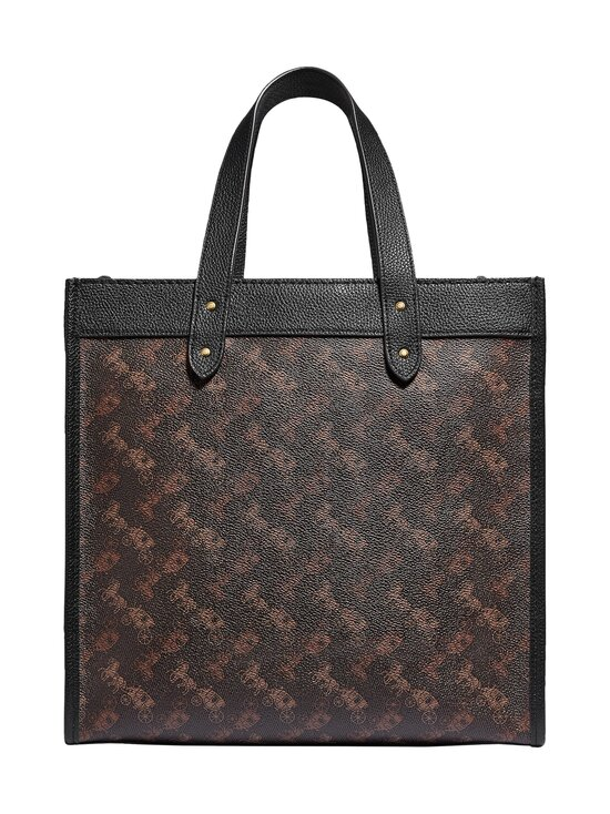 Coach - Field Tote With Horse And Carriage Print -laukku - B4SI1 B4/TRUFFLE BLACK | Stockmann - photo 2