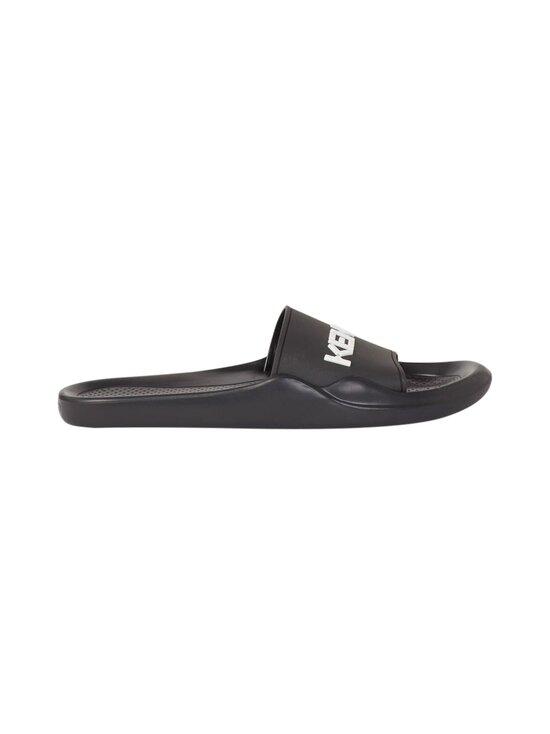 Kenzo - Beach Slide Kenzo Logo -sandaalit - 99 - KENZO LOGO PVC - BLACK | Stockmann - photo 1