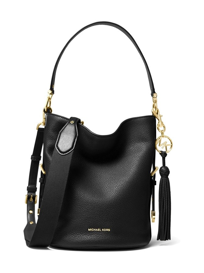 Brooke Medium Pebbled Leather Bucket Bag -nahkalaukku