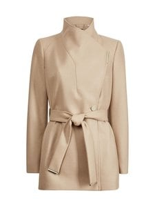 Ted Baker London - Rosess Short Wool Wrap Coat -villakangastakki - CAMEL | Stockmann