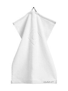 Gant Home - Organic G -pyyhe 30 x 50 cm - 110 WHITE | Stockmann