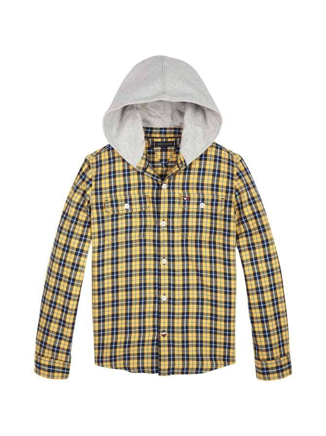 Hooded Check Shirt -paita