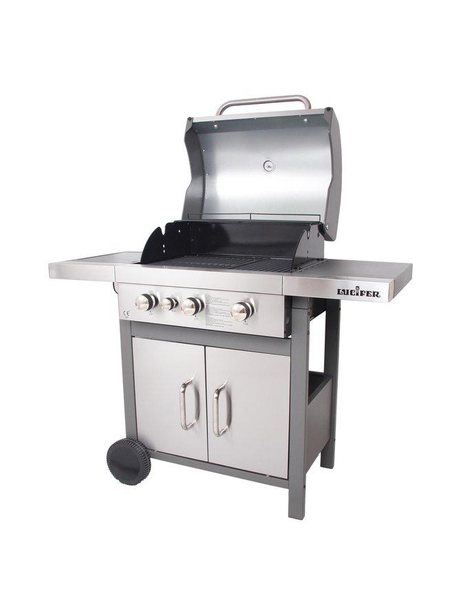 Samba-3 Deluxe -grilli sivukeittimellä