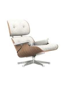 Vitra - Eames Lounge Chair -nojatuoli - WHITE PIGMENTED WALNUT, PREMIUM LEATHER SNOW | Stockmann
