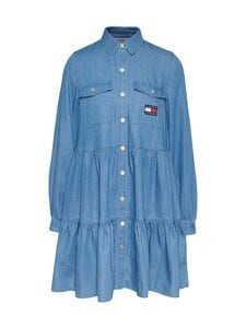 Tommy Jeans - TJW CHAMBRAY SHIRT DRESS LS -mekko - 1A7 MID INDIGO | Stockmann