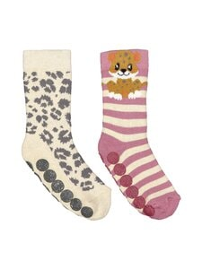 Ewers - Leopard-sukat 2-pack - 1 GREY, YELLOW, PINK, WHITE | Stockmann