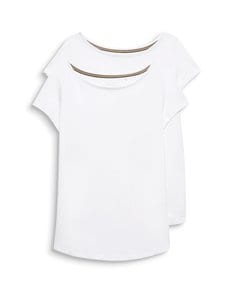 Esprit - T-paita 2-pack - 100 WHITE   Stockmann