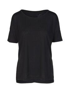 Nike - Yoga Dry Layer SS Top -paita - 010 BLACK/DK SMOKE GREY | Stockmann