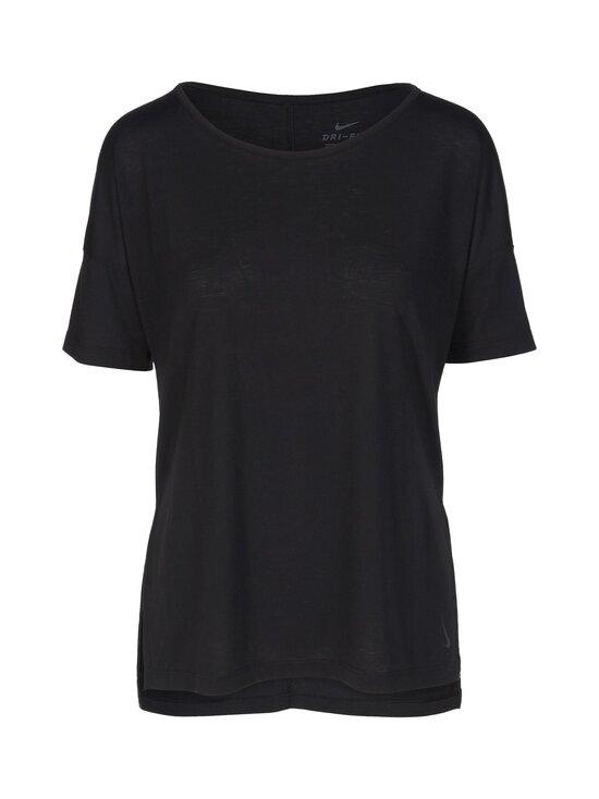 Nike - Yoga Dry Layer SS Top -paita - 010 BLACK/DK SMOKE GREY   Stockmann - photo 1