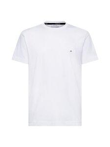 Calvin Klein Menswear - Cotton Logo Embroidery T-shirt -paita - 117 CALVIN WHITE | Stockmann