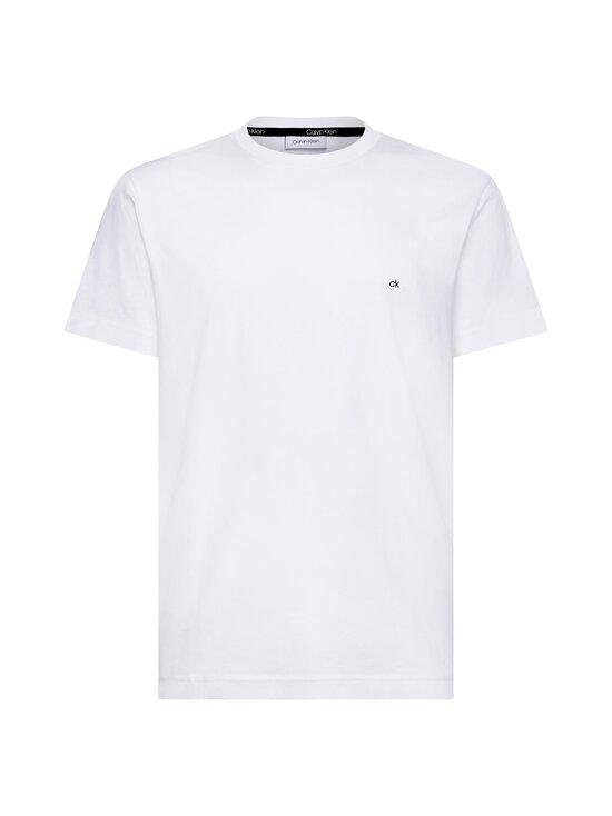Calvin Klein Menswear - Cotton Logo Embroidery T-shirt -paita - 117 CALVIN WHITE | Stockmann - photo 1