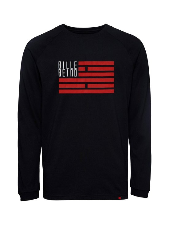 BILLEBEINO - BILLEBEINO x PURE WASTE Flag Long Sleeve -paita - 99 BLACK | Stockmann - photo 1