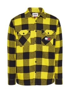 Tommy Jeans - Tjm Sherpa Flannel Overshirt -paita - 0RE VALLEY YELLOW / BLACK | Stockmann