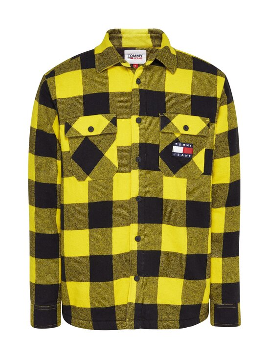 Tommy Jeans - Tjm Sherpa Flannel Overshirt -paita - 0RE VALLEY YELLOW / BLACK | Stockmann - photo 1