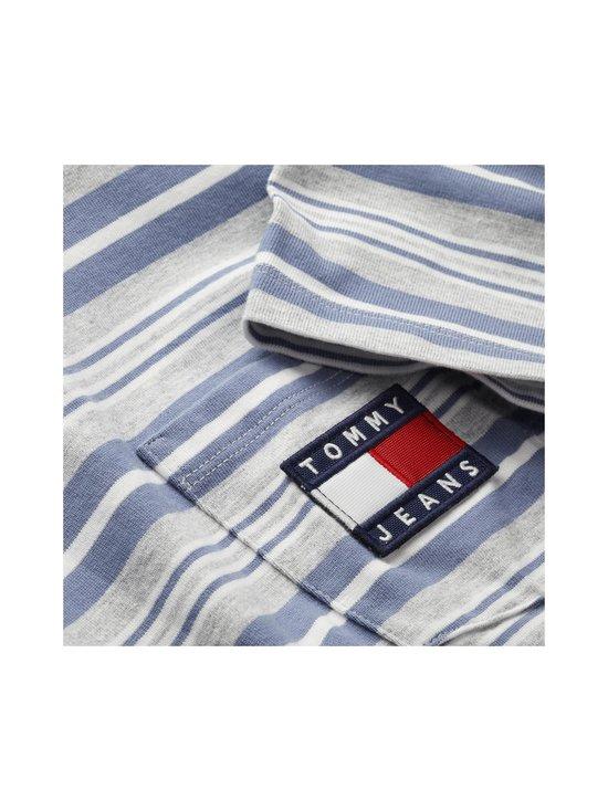 Tommy Jeans - Tjm Stripe Pocket Tee -paita - 0CS LT GREY HTR STRIPE | Stockmann - photo 3