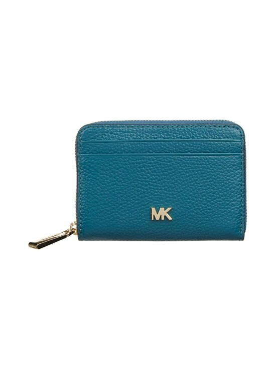 Michael Michael Kors - Mott Zip Around Coin Card Case -nahkalompakko - 434 DARK CYAN | Stockmann - photo 1